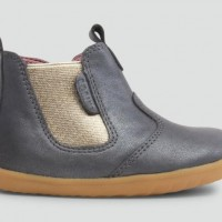 Childrens Footwear Bobux Step-Up Jodhpur Boot in Charcoal Shimmer